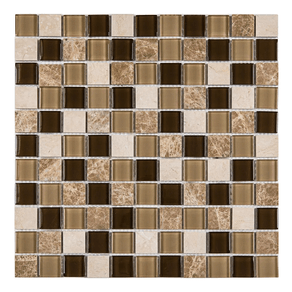 Pastilha-Mt702-Matisse-Marrom-Escuro-29x29-Glass-Mosaic