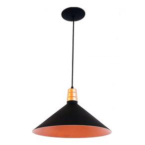 Pendente-Chapeu-GD-MD-PQ-com-1-Lampada-E27-Preto-e-Cobre-Emalustres-98004