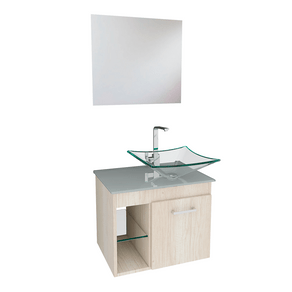 Conjunto-Gabinete-Lavatorio-Madeira-e-Vidro-Incolor---Espelho-e-Cuba-5034-Mezzo-Bianco-Branco-VB-Cristais-86309
