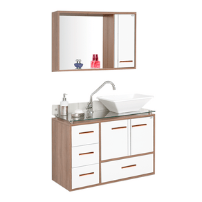 Conjunto-Gabinete---Armario-para-Banheiro-Hortensia-80cm-Tampo-de-Vidro-Cobre-Carvalho-Branco-MM-Gabinetes-97636