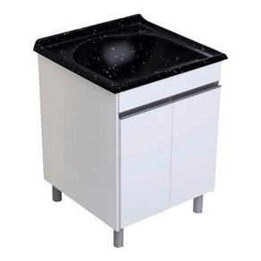 Gabinete-para-Lavanderia-com-Tanque-Simples-Amelia-575CM-Preto-Rorato-88757