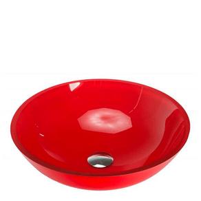 Cuba-de-Apoio-em-Vidro-Redonda-30x30cm-Vermelha-VB-Cristais-88224