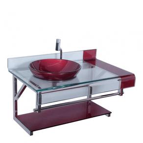 Gabinete-para-Banheiro-com-Cuba-de-Vidro-Chopin-Elegance-Vermelho-Astra-91608