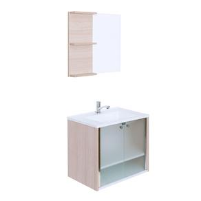 Kit-Gabinete-de-Banheiro-com-Lavatorio---Espelheira-Slim-Amadeirado-Crismetal-94775