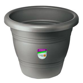 Vaso-Redondo-para-Plantas-Primafer-22x22-Cinza-Atlas-97858