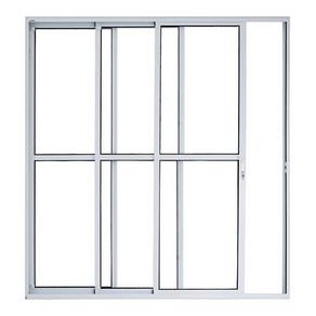 Porta-Balcao-Aluminio-210x150-3-Folhas-Sequenciais-Linha-Malta-Branca-Prado-Aluminios-92012