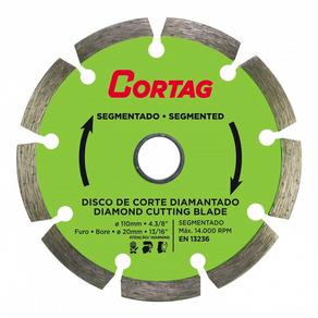 Disco-Diamantado-Segmentado-110mm-Corte-Seco-Cortag-90131